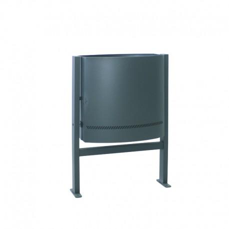 Papelera metálica para exteriores - 113