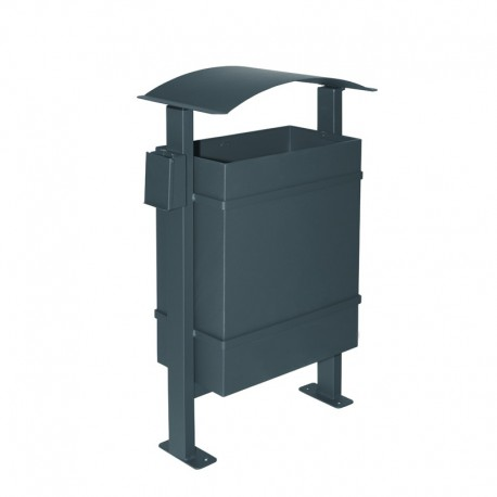 Papelera metálica para exteriores - 144