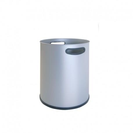 Papelera metálica con asas -90