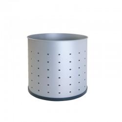 Papelera metálica perforada -111-R