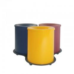 Conjunto de tres papeleras metálicas - 119