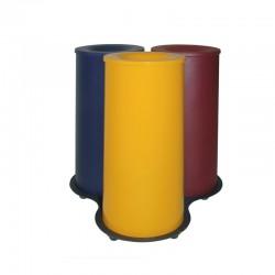 Conjunto de tres papeleras metálicas - 121