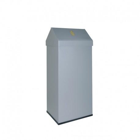 Papelera metálica con cabezal basculante -123-2