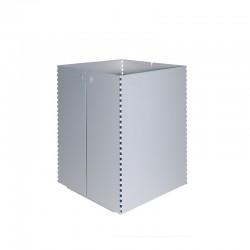 Papelera metálica con perforados laterales - 146